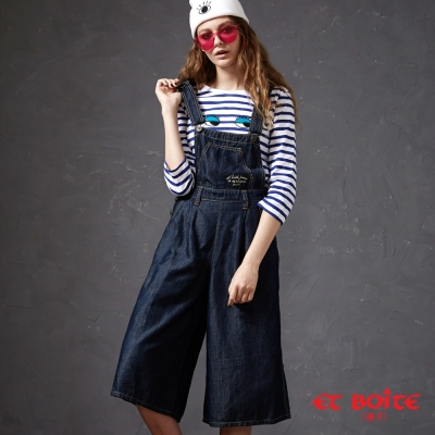 ETBOITE-箱子-BLUE-WAY俏皮吊帶中腰寬褲
