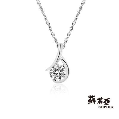 蘇菲亞SOPHIA 鑽鍊-雋永0.15克拉鑽石項鍊