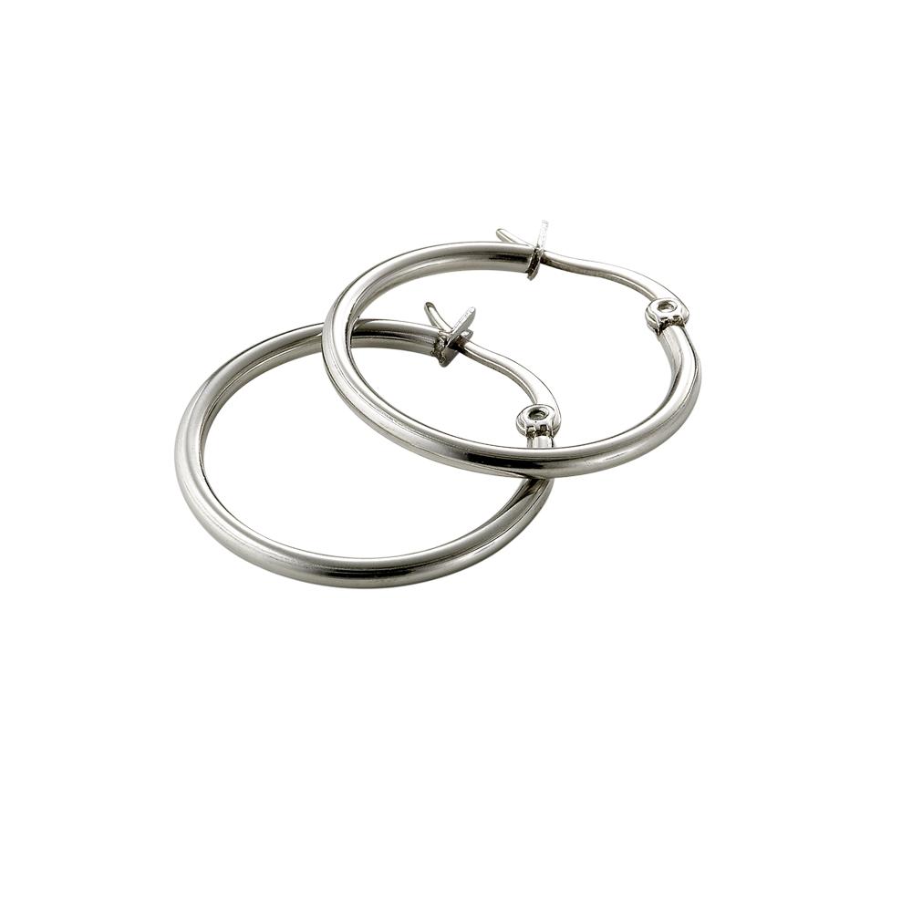 tic tac toe 垂吊式白鋼耳環系列-小圓圈