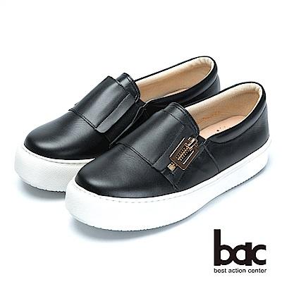 bac時尚穿搭-經典舒適的平底樂福鞋-黑色