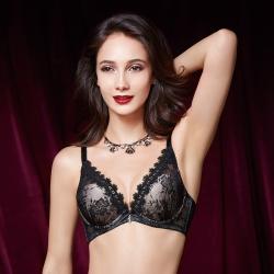 La Felino - 公主之舞3/4罩泡棉款B-E罩杯內衣 (高貴黑)