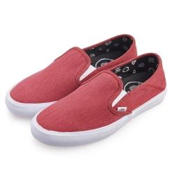 (男)VANS Slip-On 經典休閒懶人鞋*紅色