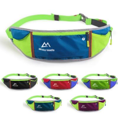 原裝Maleroads 容納5.5吋手機 美型撞色 運動腰包 輕薄防潑水設計