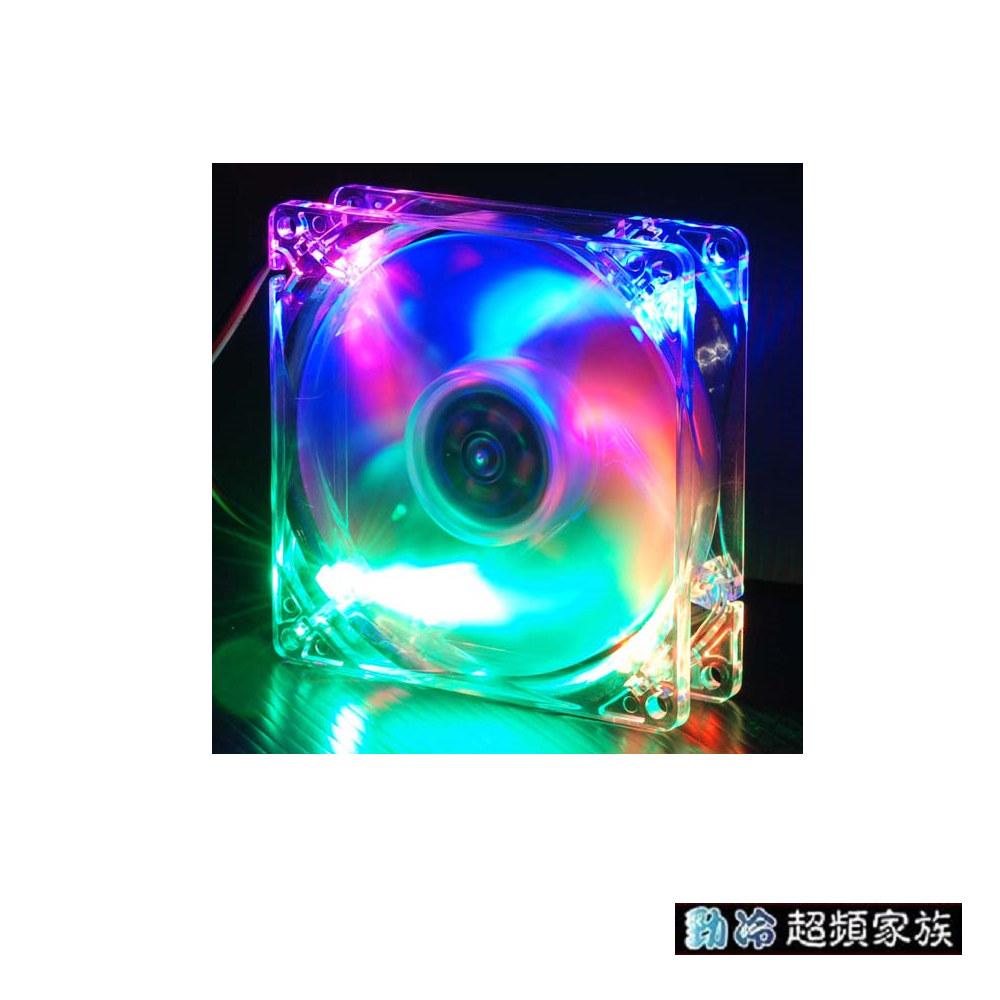 EVERCOOL勁冷超頻家族 9公分LED燈系統風扇(四色燈)CLB9225-4LD1