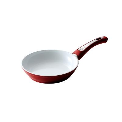 D-S-陶瓷不沾平底鍋20CM-紅色