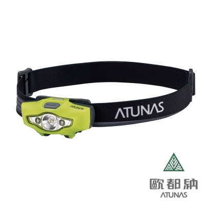 《ATUNAS歐都納》A-L1704 輕量頭燈 螢光黃