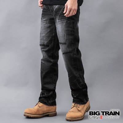 BIG TRAIN-街頭骷髏直筒褲-鐵灰