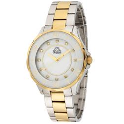 Kappa 經典華麗不鏽鋼時尚腕錶-白母貝x金/40mm