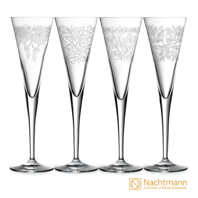 【Nachtmann】情趣香檳杯(4入)24.5cm(165ml)-Delight