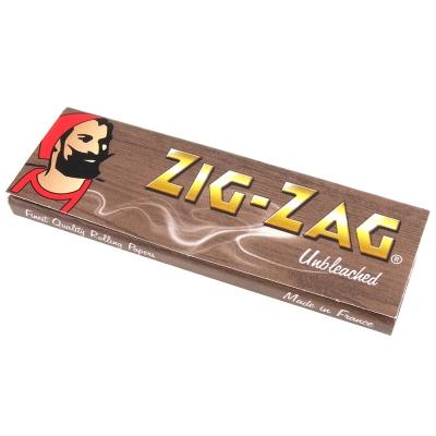 ZIG-ZAG 法國進口捲煙紙-Unbleached 天然未漂白*10包