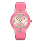 Swatch 51號星球機械錶 SISTEM CALI 機械粉紅手錶
