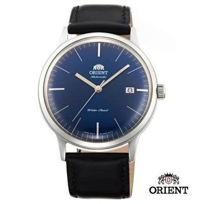 ORIENT 東方錶 DATE系列 巨蛋玻璃機械錶-藍色/40.5mm