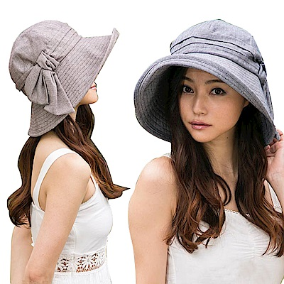 QUEENHEAD日系抗UV蝴蝶結美型寬緣防曬帽