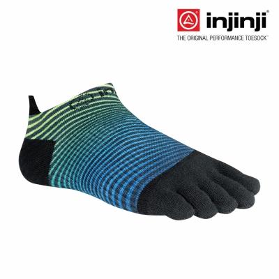 【Injinji】RUN 吸排五趾隱形襪-曲線綠