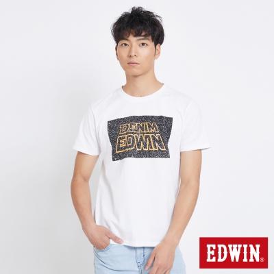 EDWIN 太空銀河夜光短袖T恤-男-白色