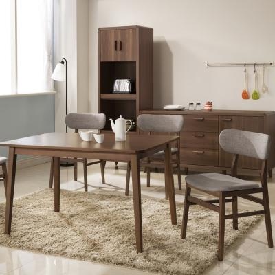 日本直人木業傢俱-WOOD北歐生活餐桌椅(1桌4椅)