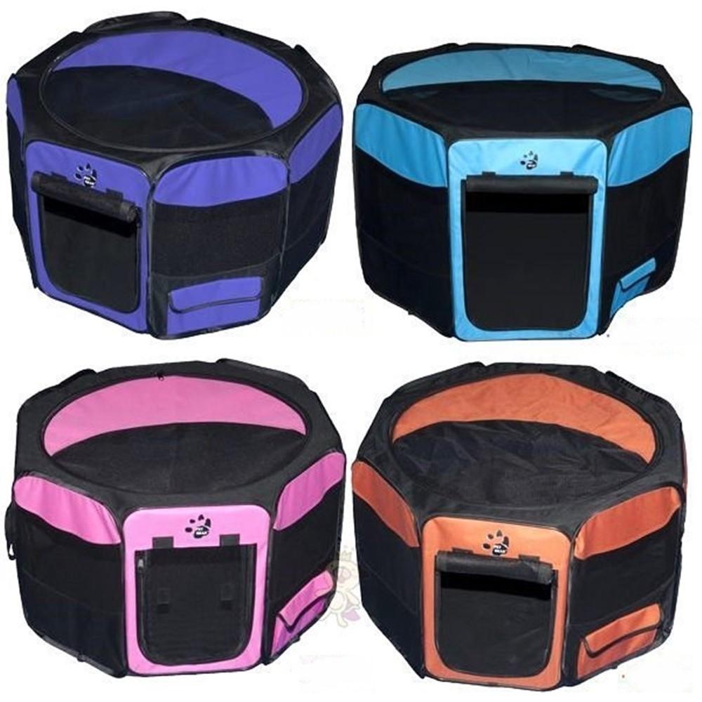 美國PET GEAR八角型摺疊寵物籠-小 顏色隨機 1入