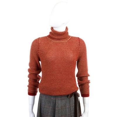 MALO 米紅色高領針織毛衣(100�SHMERE)