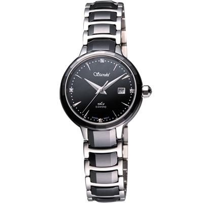 Standel 詩丹麗真鑽陶瓷腕錶-黑/28mm
