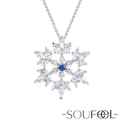 SOUFEEL索菲爾 925純銀項鍊 雪花(大)
