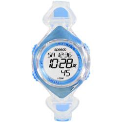Speedo 水中漫步電子腕錶-藍/40mm