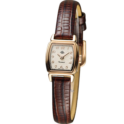 Rosemont 玫瑰錶 骨董風玫瑰系列時尚腕錶-深咖啡/16x17mm