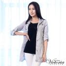Victoria 抗UV長版防風外套-女-淺灰