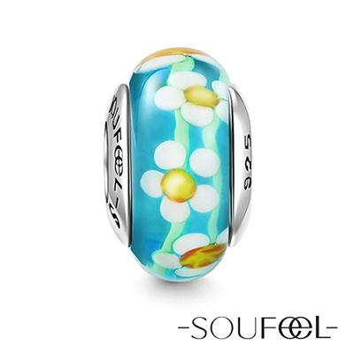 SOUFEEL索菲爾 925純銀珠飾 小雛菊 琉璃珠