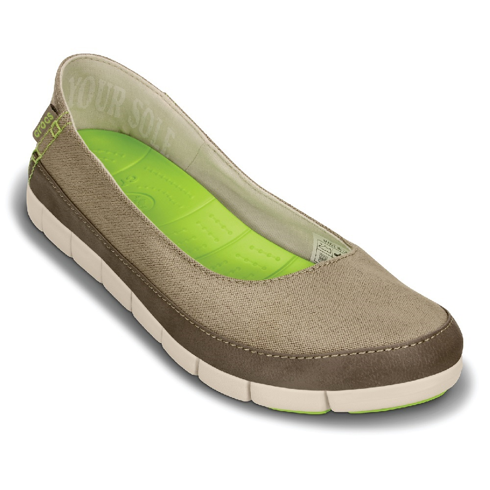 Crocs 卡駱馳 (女) 舒躍奇平底鞋-15317-26P