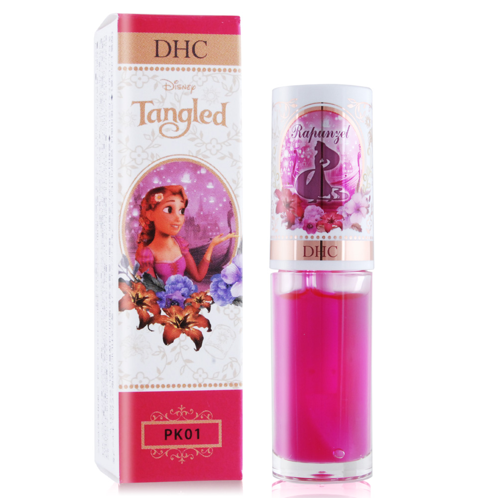 DHC Disney 公主潤色唇油精華-長髮公主4g#PK01 粉紅-2018限量新款