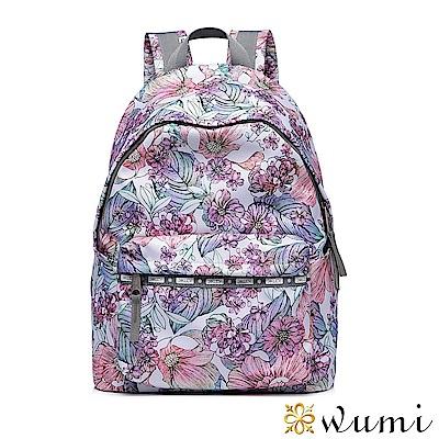 WuMi 無米 輕旅行系列後背包-彩繪繁花 粉