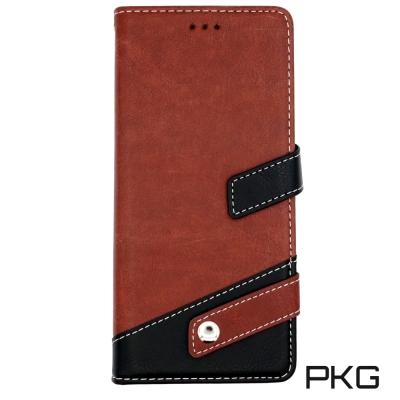 PKG SAMSUNG NOTE8 側翻式皮套經典皮革系列-棕/黑