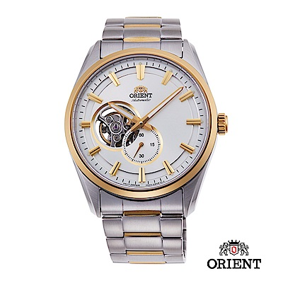ORIENT 東方錶 SEMI-SKELETON系列 機械錶 鋼帶款 金色 40.8mm