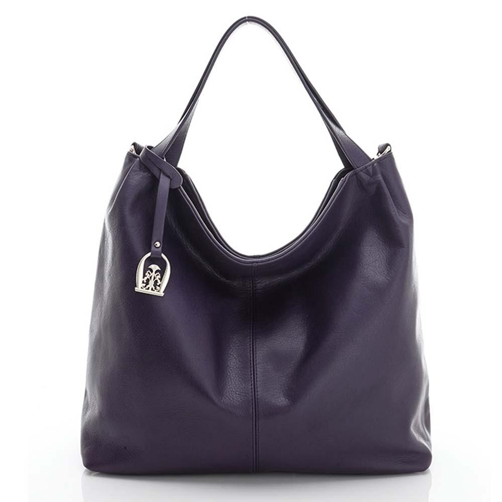 LouiseC. 簡約風格肩背牛皮包 - 紫色 02C01-0019A10