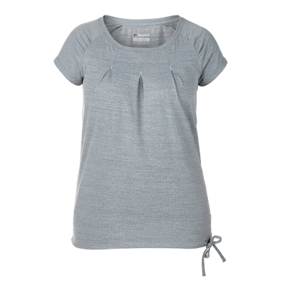 【Berghaus 貝豪斯】女款銀離子除臭抗菌抗UV上衣S04F16-灰