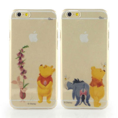Disney iphone 6 /6s 彩繪手繪風透明保護手機殼-水彩系列