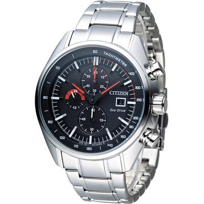 CITIZEN 星辰 征服極速光動能計時腕錶(CA0590-58E)-黑/45mm