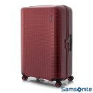 Samsonite新秀麗 28吋Pixelon圓弧立體圓點PC硬殼拉鍊行李箱(寶石紅)