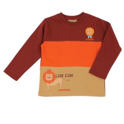 愛的世界-SUPERMINI-純棉圓領獅子倒色長袖上衣-10-12歲