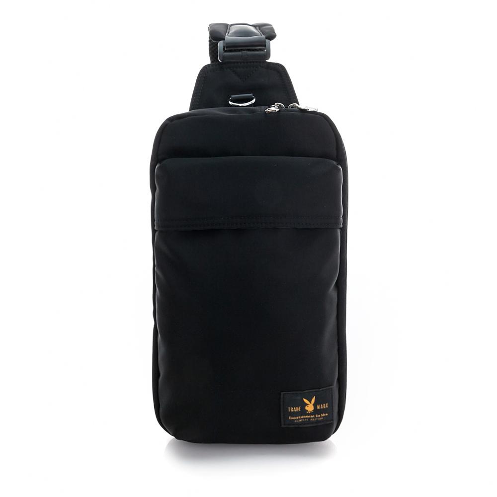 PLAYBOY- 單肩背包 都會輕旅系列-個性黑