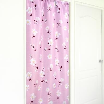 布安於室-思琪爾遮光超長門簾-粉色-寬140x高270cm