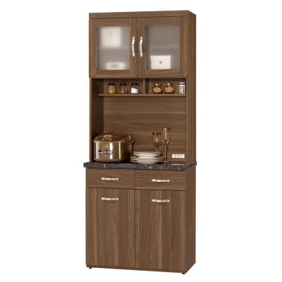 CASA卡莎 羅娜爾2.7尺石面組合餐櫃/收納櫃