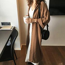 韓國 素色收腰洋裝 外套