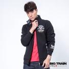 BIG TRAIN 迷彩配布立領外套-男-黑色