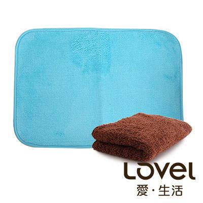 Lovel馬卡龍長絨毛纖維毛巾地墊組合