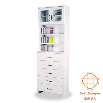 Sato-DOLLY朵莉五抽雙門SMART置物櫃 W60*D30*H180cm