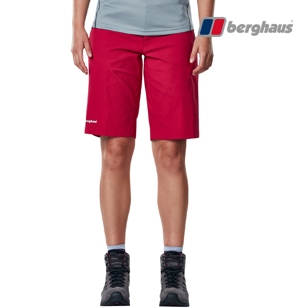 【Berghaus貝豪斯】女款輕量快乾短褲S09F05-粉