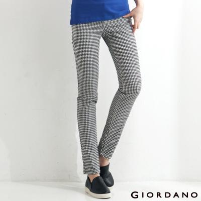 GIORDANO-女裝低腰修身窄腳褲-52千鳥格紋