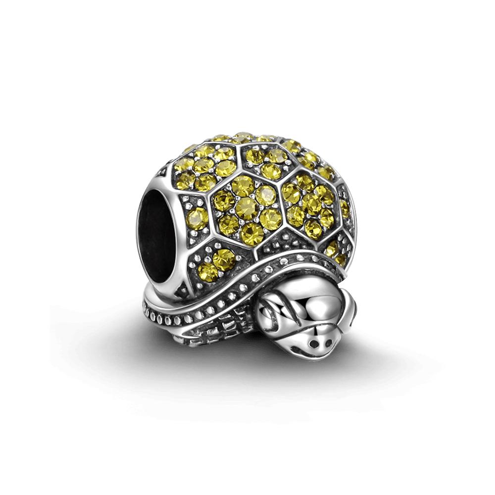 SOUFEEL索菲爾 925純銀珠飾 金錢龜 串珠