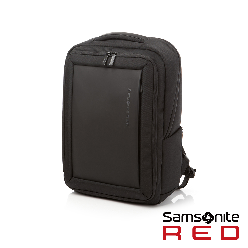 Samsonite RED  BAGFORD時尚大容量休閒筆電後背包M15吋(黑)